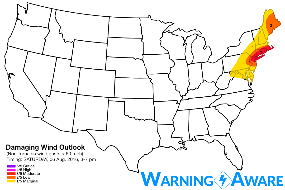Damaging Wind Threat August 6th